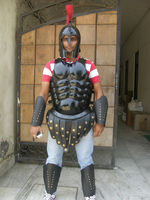 BLACK LEATHER MUSCLE ARMOUR CUIRASS - HALLOWEEN COSTUME