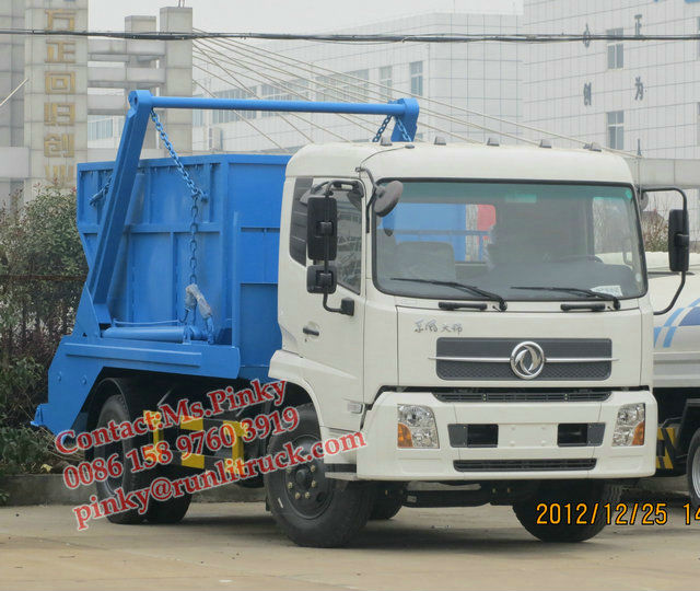 8m3 Swing Arm Garbage truck Arm Roll Garbage Truck DFL Skip Loader Ms.Pinky 15897603919 Manufacturer Sales