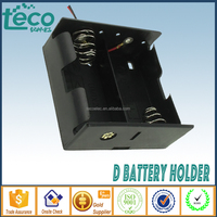 TBH-D-2C Ningbo TECO 3V 2D ABS Battery Holder with 150mm Lead Wire