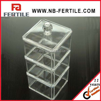 WL 423285 Clear acrylic storage container