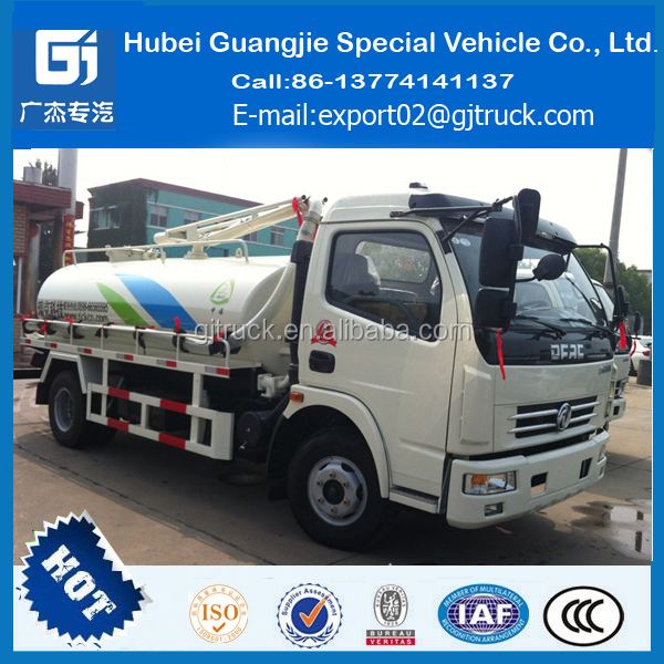 dongfeng sewage suction tanker truck Combined Suction and Jetting Sewage Cleaner Truck