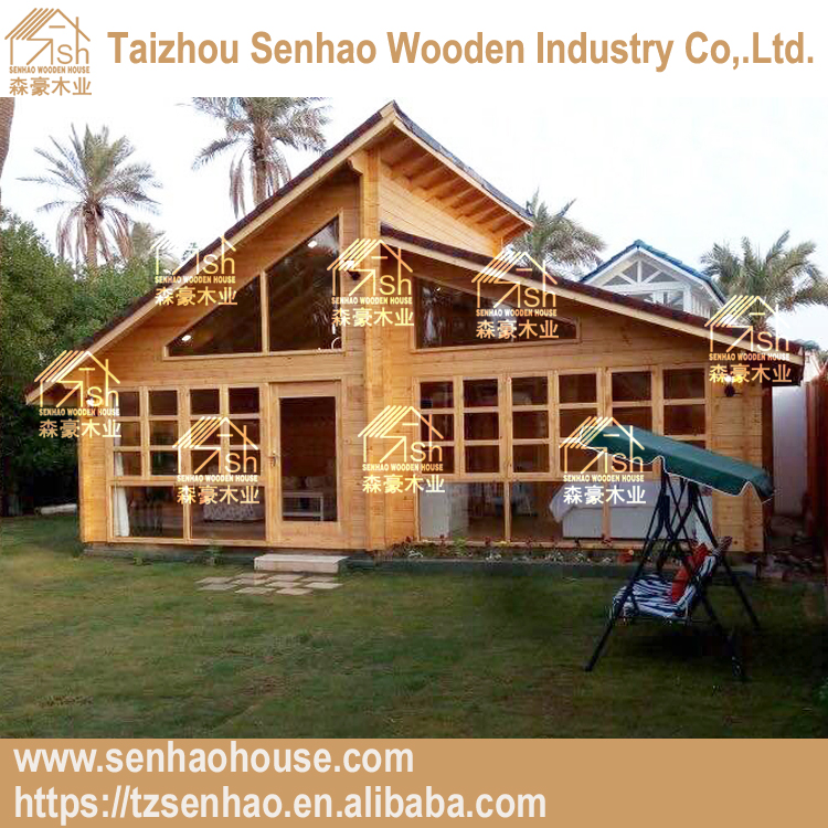 Russion pine wood material prefabricated log cabins best for family living
