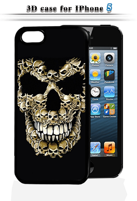 2017 customizable high definition soft gel 3D lenticular skull imaging sublimation mobile phone cover / case for iphone 5,6,7
