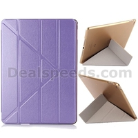 Transformer Silk Texture Tri-Fold Leather Stand Smart Case Cover for ipad 2 flip case