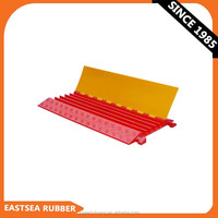 Hotsale Great Quality Flexible PU Plastic 5 Channel Floor Cable Ramp