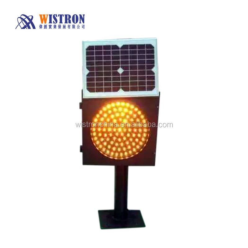 Solar yellow flashing signal lamp/Solar Light