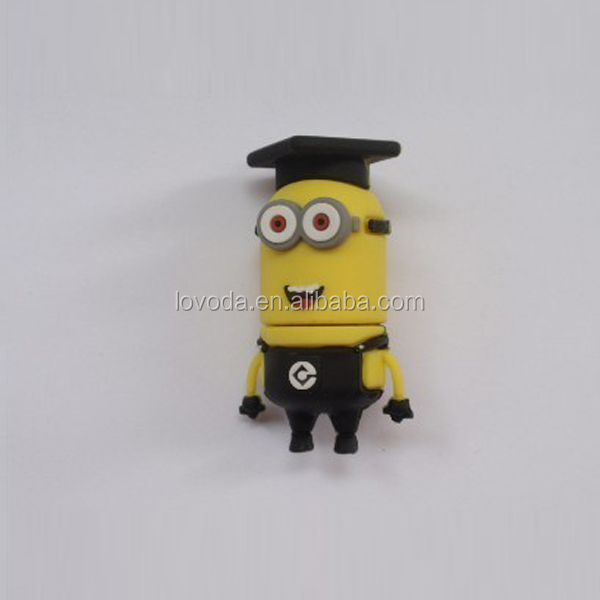 the newest pvc cartoon bulk minion made in china usb flash drive