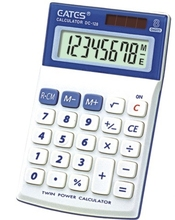 White Desktop Portable Calculator for Gift Sorlar Power 8 digits