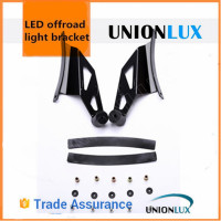 Unionlux lighting 50 inch Curved led bar light mounting bracket, Roof Mount Brackets, for 2009-2014 Ford F150 SVT Raptor