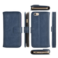 Retro Wallet Card Holder Leather Case Cover for iPhone 6 4.7Inch, for apple mobile phone