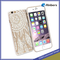 Wholesale 3D Print Clear Ultra Slim Hard Case Cover Floral Paisley Flower Back for iPhone 4 4S 5C 5 5S 6 6 Plus 6S 6S Plus