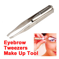 Fashion remover stainless steel makeup eyelash tweezer wholesale manufacturer