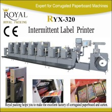 RYX-320 intermittent label offset printing machine high grade zebra barcode label printer