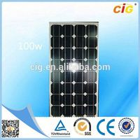 TUV Approved Portable Compact 120w poly solar panel