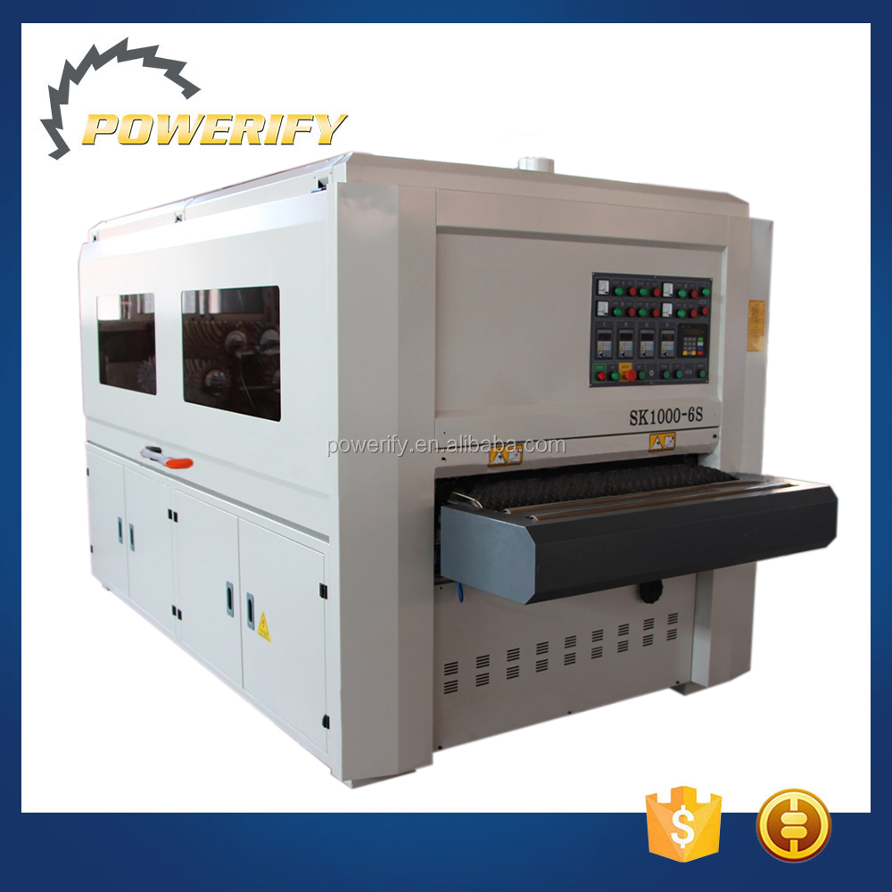Powerify Brand SK1000-6S Vertical And Horizontal Combined Special-Shaped Automatic Cabinet Door Wood Plywood Sanding Machine