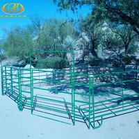 6 FT Tall X 12 FT Long Heavy Duty 6 Rail Pipe Corral Panels With Gate