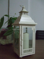 Lantern Metal Glass Tealight Candle Holder BIG Lamp Panels