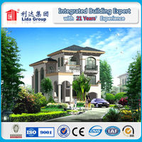 Luxury Modern Light Steel Villa. light gauge truss house
