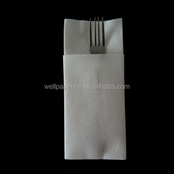 Disposable Logo Printable prefold Airlaid cutlery paper dinner napkin