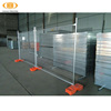 hot dipped galvanized metal temporary fence panels with foot and clamp