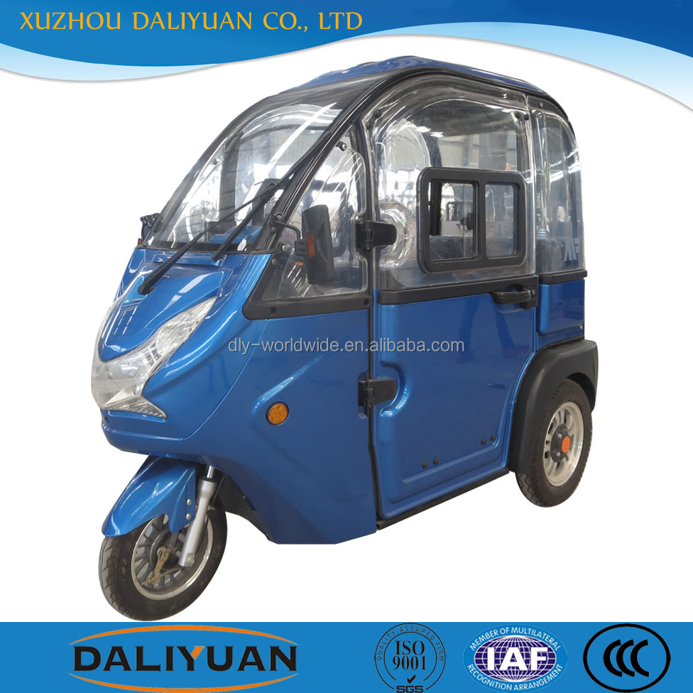 Daliyuan mini passenger three wheel covered motorcycle