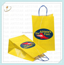 Custom Logo Printed color craft gift shopping paper bag Wholesale