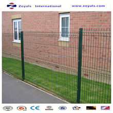 Manufacturer ISO9001 double loop welded wire fence/pvc coated double circle fence