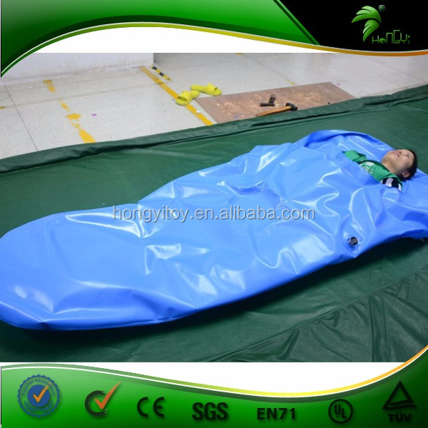 0.4mmPVC Blue Double Layer Inflatable Sleeping Bag