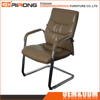 Popular leather executive conference chair office chairs without wheels