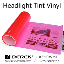 0.3x10M Pink Car Headlight Wrapping Protective Colored Vinyl Film