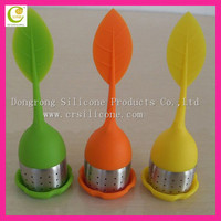 Healthy life high quality eco-friendly silicone rubber wholesale tea infuser with stainless steel part
