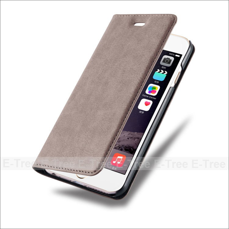New fashion Magnet Flip card slots stand wallet PU leather cover phone case for Apple Iphone 6 6s 6 plus 6s plus
