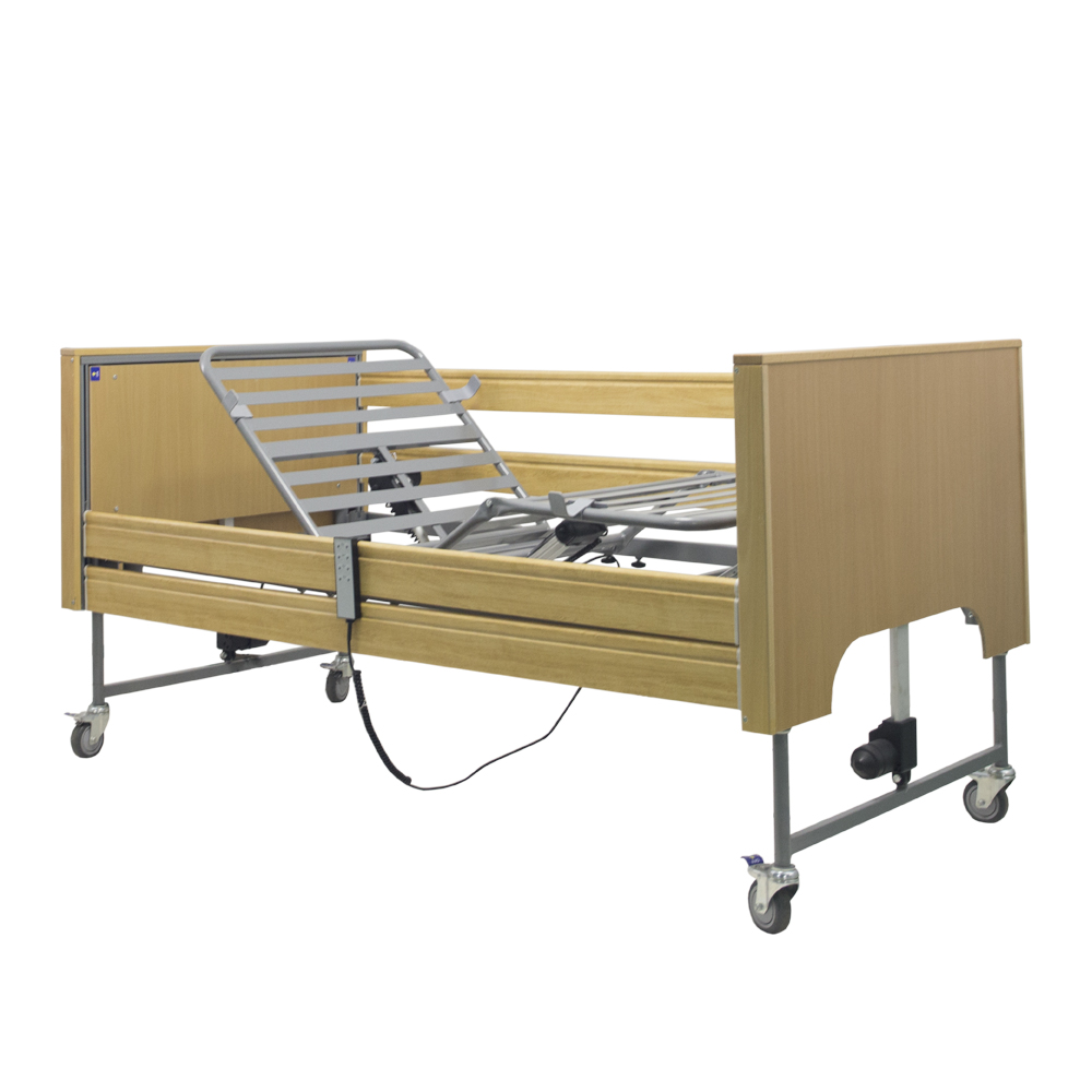Deluxe Three Function wood nursing Electric Home Care bed