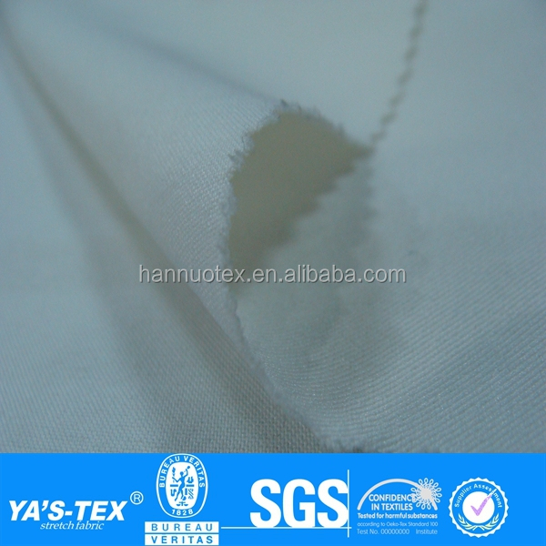 White Twill Woven Polyester Spandex 4 Way Stretch Fabric Wholesale For Sportswear