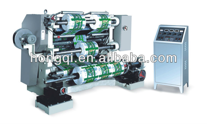 plastic stretch film roll slitting and rewinding machine