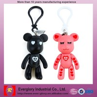 Hot sale ! cheap 3D plastic key chain,lovely plastic promotion gift , PVC keychain