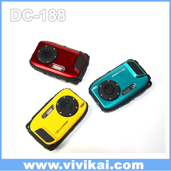 "original waterproof digital camera 1280P+16 MP+2.7"" LCD screen,10 memers underwater"