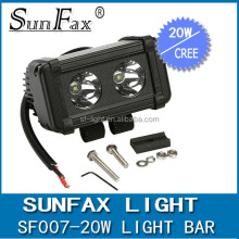 High quality C REE chips ,2pcs*10w high intensity leds,6000K,diecast aluminum housing.off road led light bar 20w