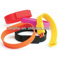 Silicone USB Bracelet in USB Flash Drives