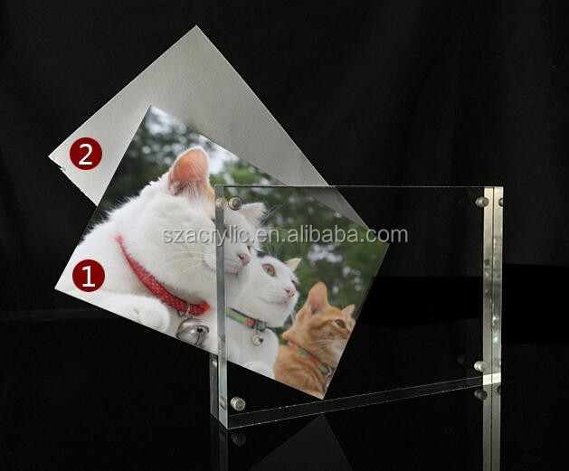 "8x10"" acrylic photo frame,2 side display picture frame"