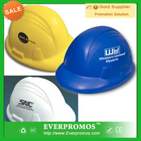 Custom logo hard hat anti stress toy for promotion and stress reliever