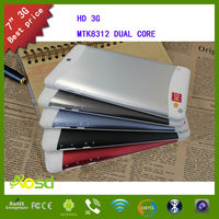 Glass shell shenzhen export 3g dual sim dual core android new models tablets
