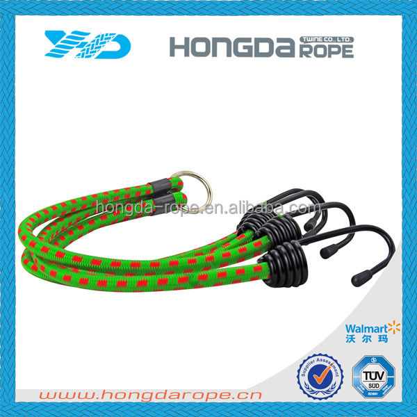 highquality customer length round elastic bungee shock cord with hook for luggage
