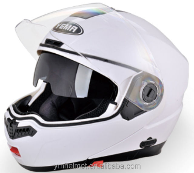 Factory direct sale OEM Service new design led light stylish flip up helmet full face bluetooth casco motorcycles