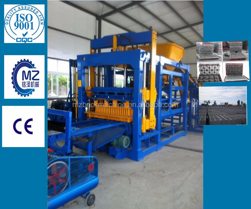 Bestquality automatic hydraulic press Concrete cement interlock paving paver block making machine/hollow brick machine for sale