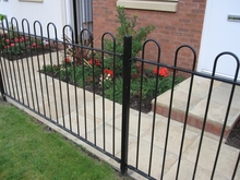 Decorative Bow Top Fencing Panel