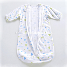 Printed 100%cotton stroller soft printed cotton baby sleeping bag and bath robe