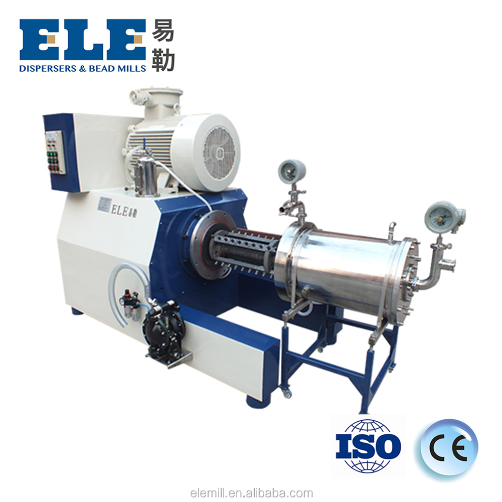 Horizontal wet grinding mill