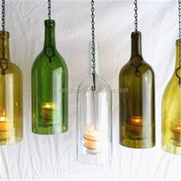Wine Bottle Glass Candle Holder Buy Wine Bottle Glass