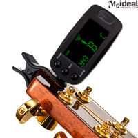 Digital Chromatic Clip-on Guitar Bass Tuner with Big LCD Screen & High Accuracy with Pick-Holder and Multi-Angle View